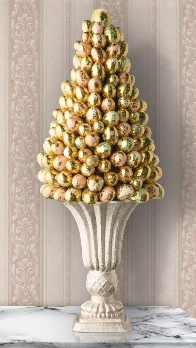 Gold egg Easter tree topiary