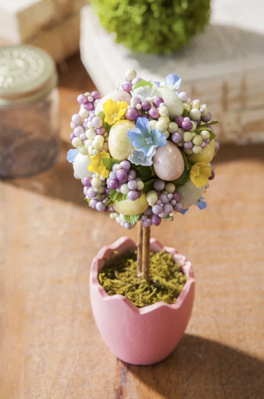 Pastel Easter topiary tree