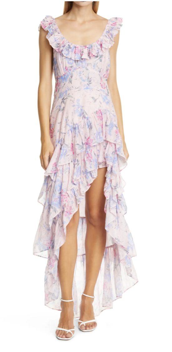 Ruffled cottagecore maxi dresses