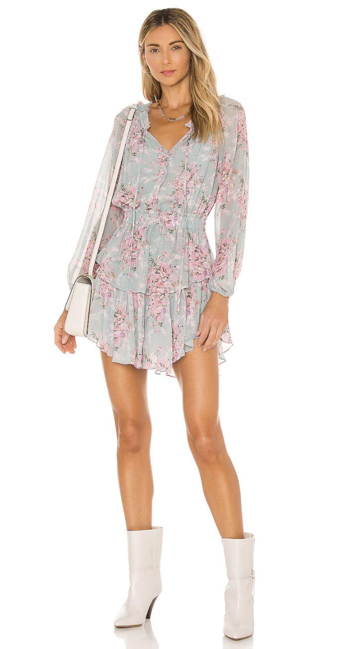 Floral cottagecore mini dresses