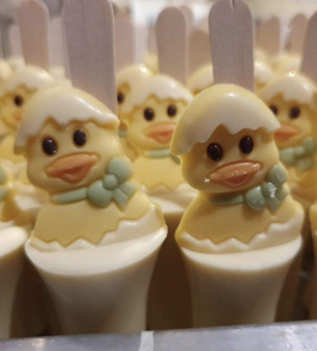 Cute Easter Chick White Hot Chocolate Spoon