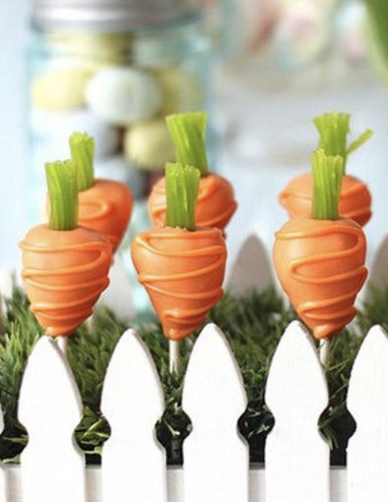 Cute Carrot Easter Cake Pops