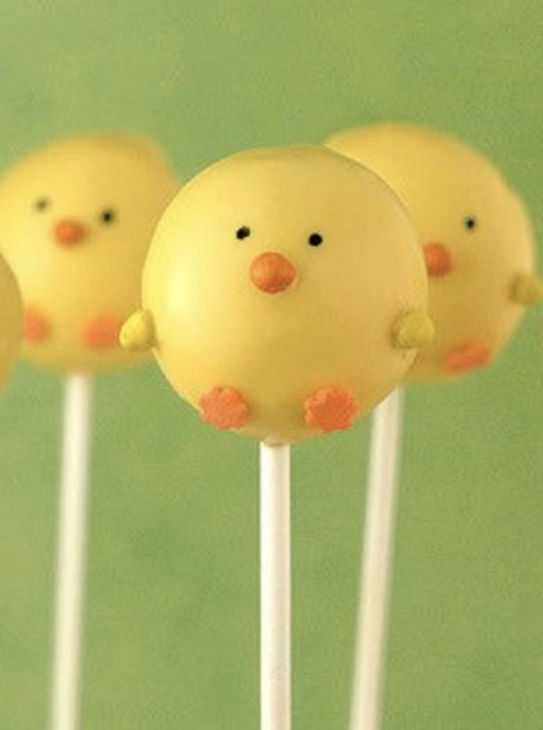 Cute Chick Easter Cake Pops