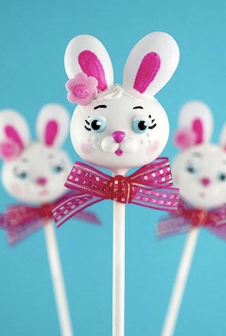 Cute Bunny Easter Cake Pops