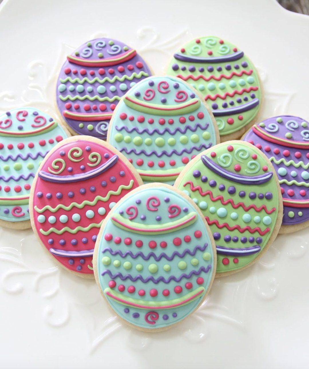 Cute Pastel Easter Egg Cookies