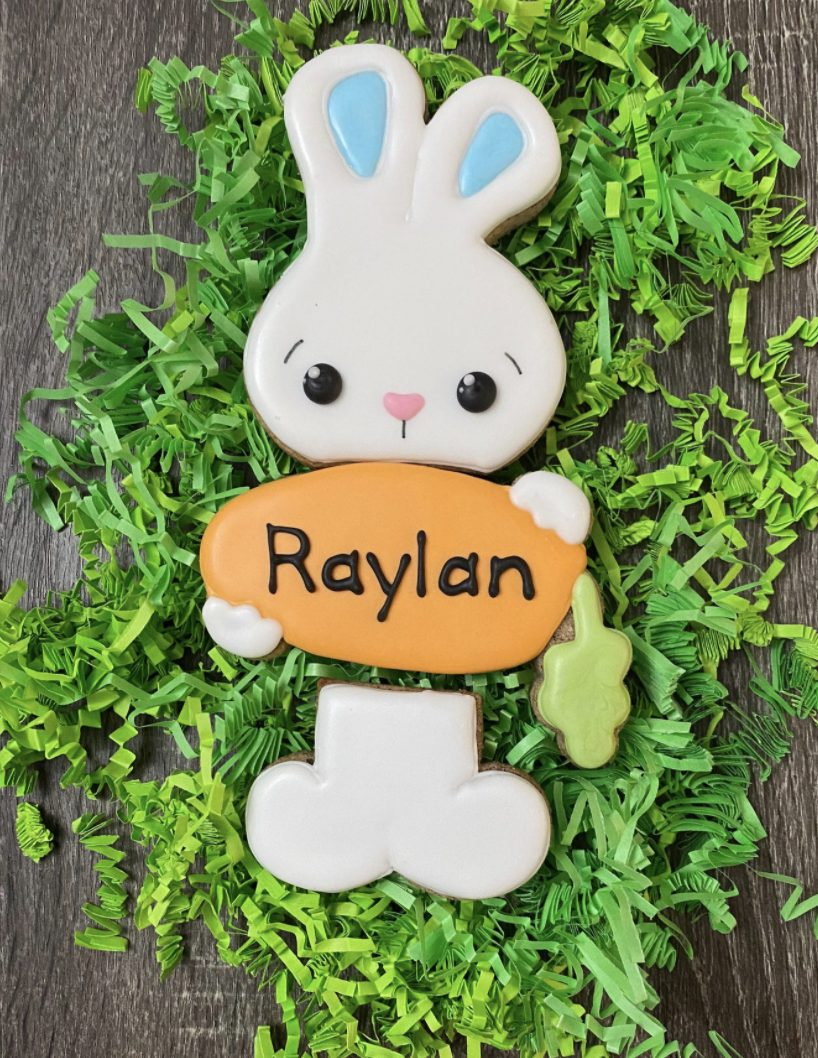 Cute Personalized Easter Bunny Cookies