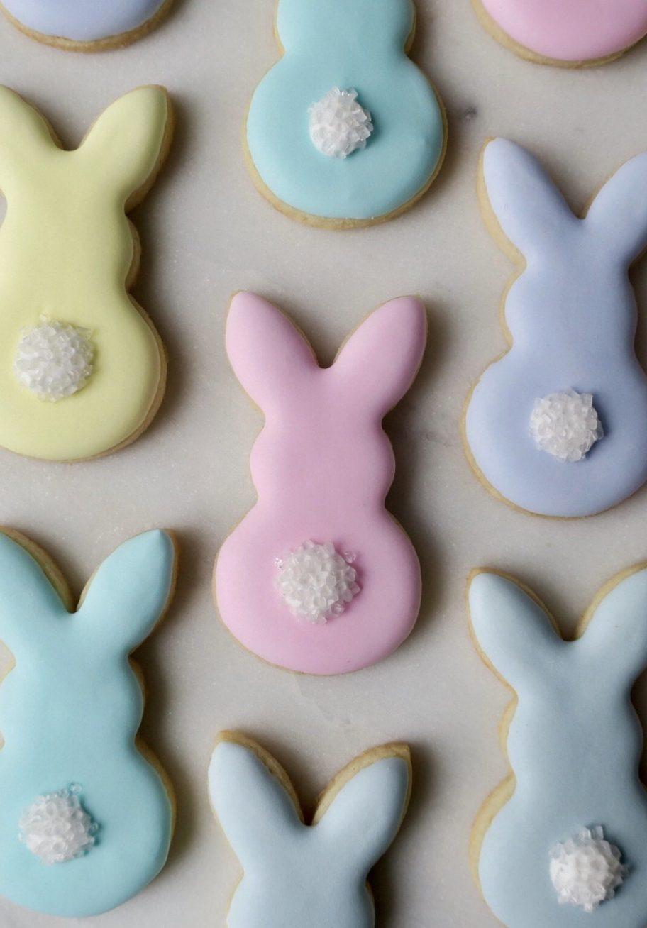 Cute Pastel Easter Bunny Sugar Cookies