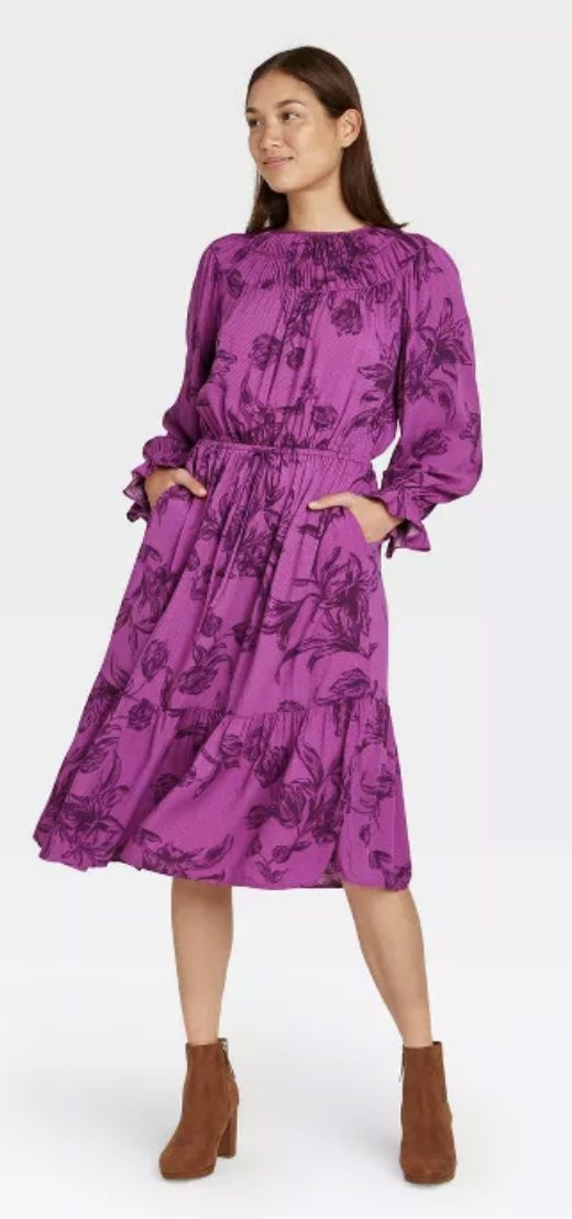 Purple Target dress with florals