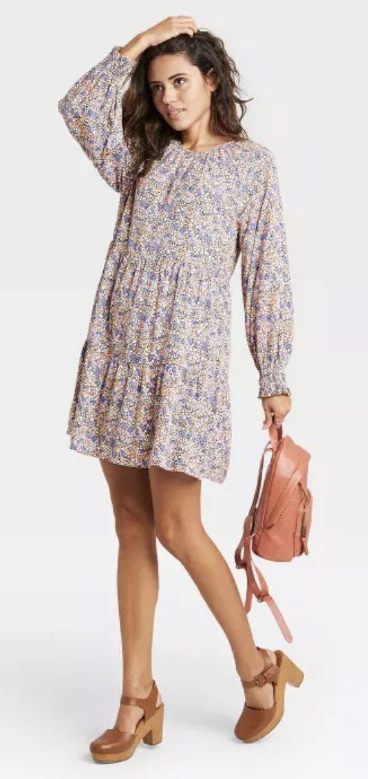 Target floral mini dress