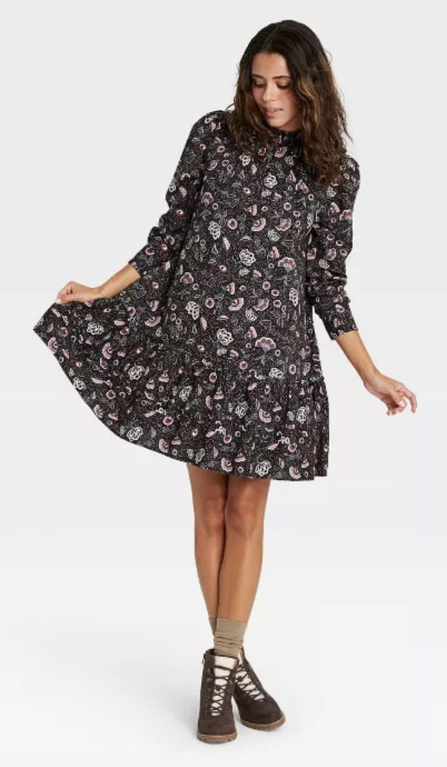 Target dress with florals