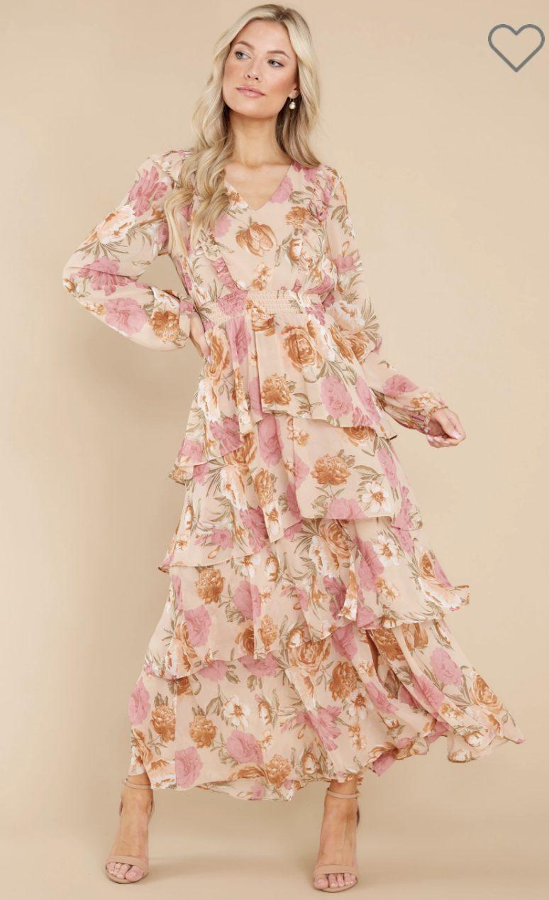 Floral cottagecore maxi dresses