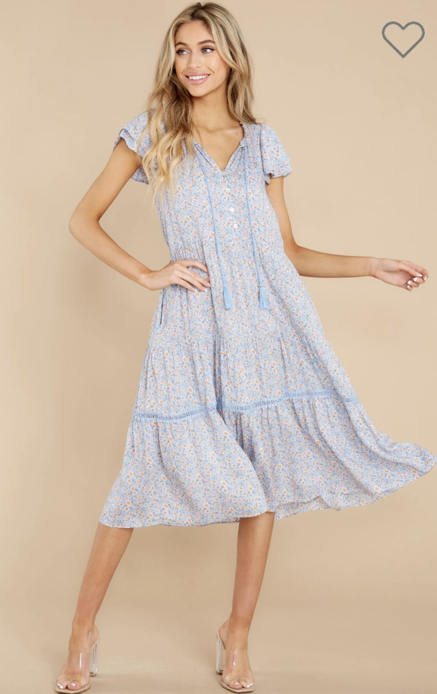 Light blue prairie dress