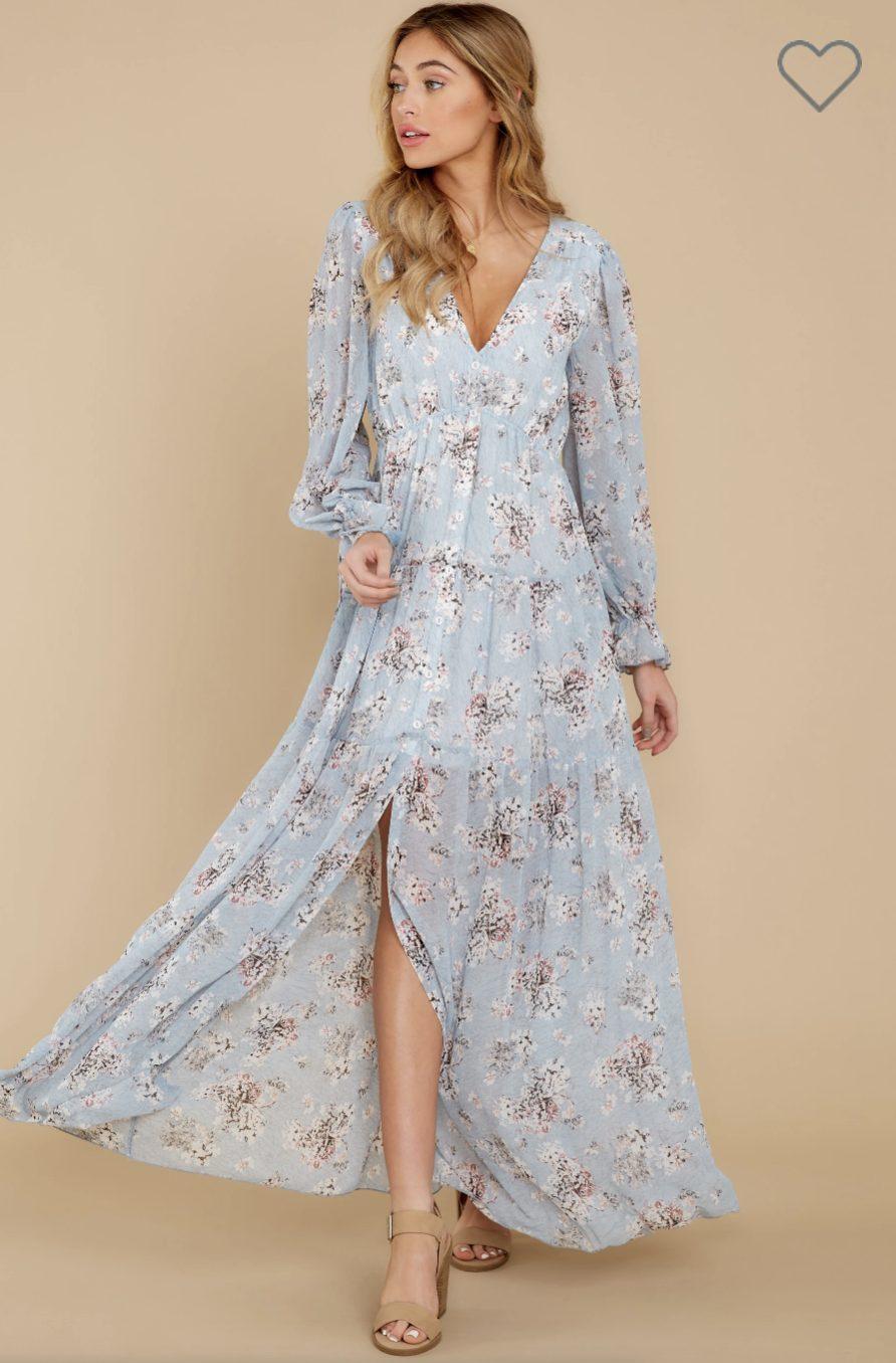 Blue cottagecore fashion and dresses