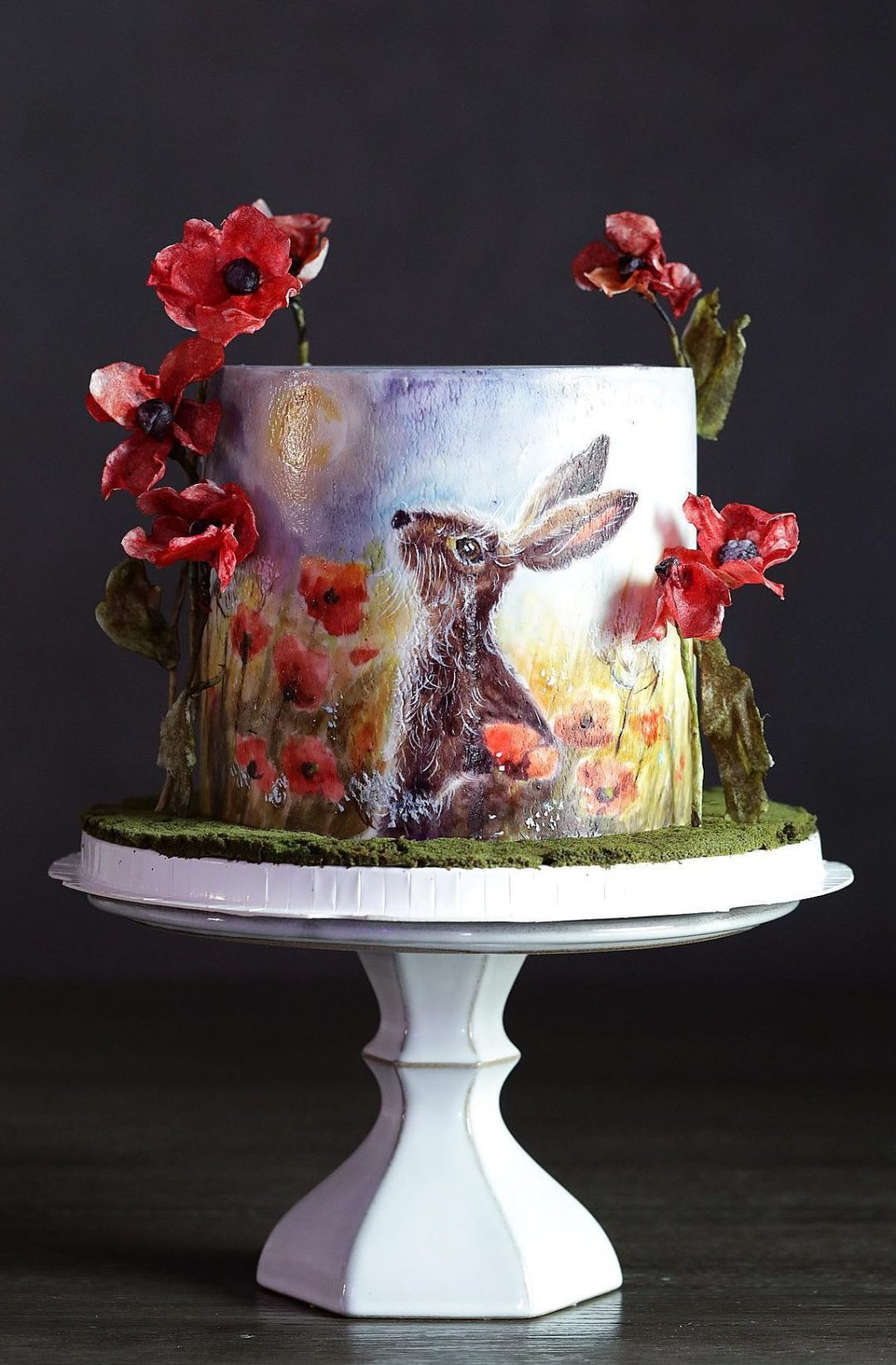 Artistic Easter Bunny Cake