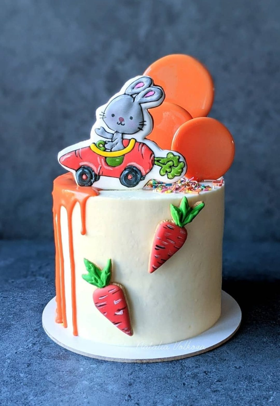 Colorful Easter Carrot Decorated Cake