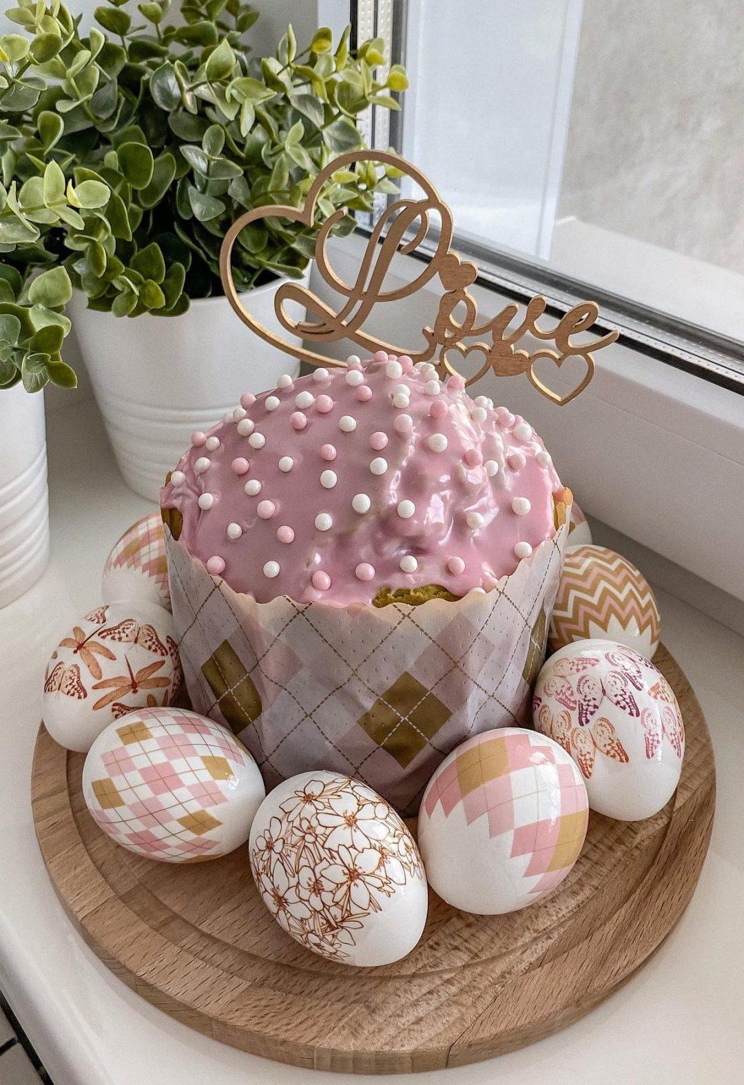 Pink Easter Nest Cake