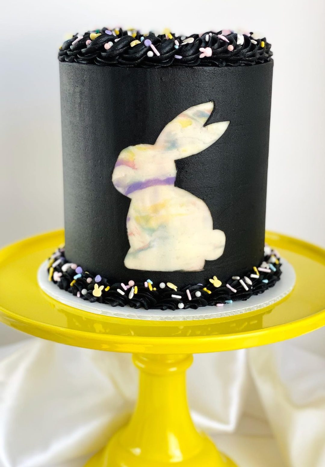 Cute Black Bunny Easter Cake