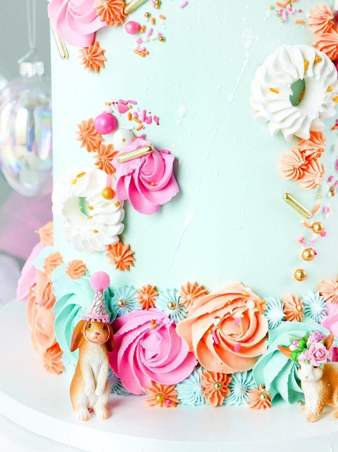 Elegant Easter Pastel Cake With Meringue