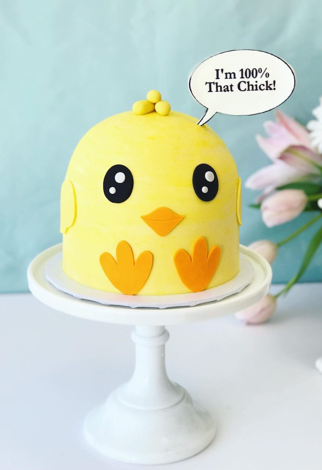 Cute Easter Chick Cake