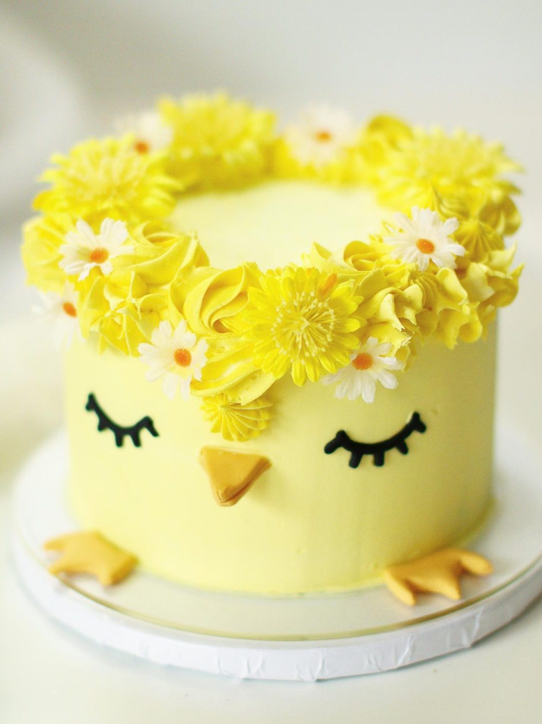 Cute Yellow Chick Cake For Easter