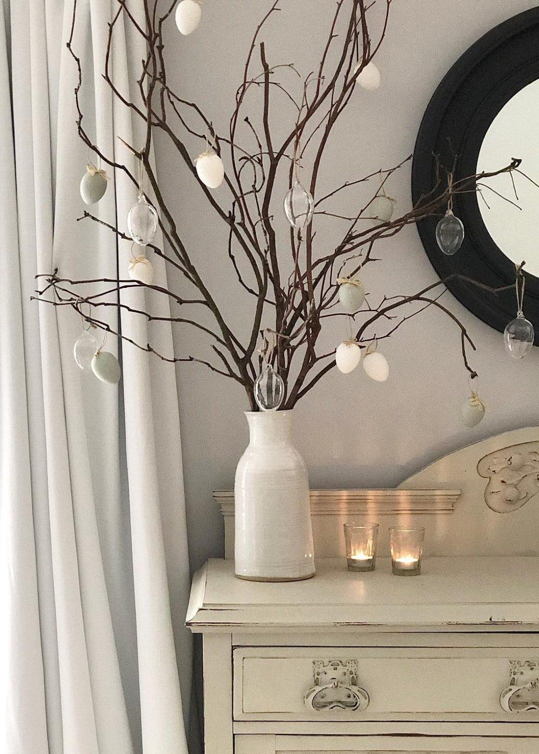 Minimalist Easter tree ideas with stems