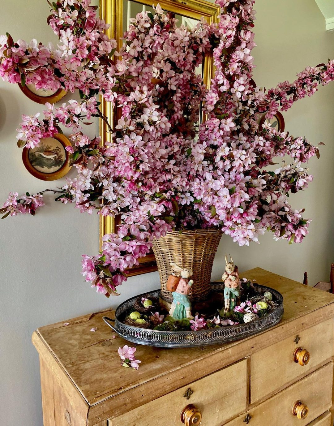Pink cherry tree and Easter tree ideas with blooms