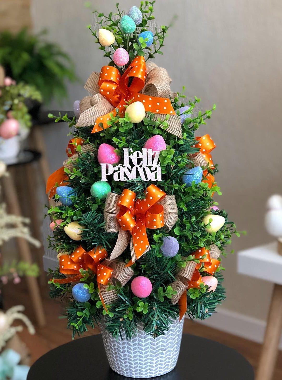 Mini Easter tree topiary ideas