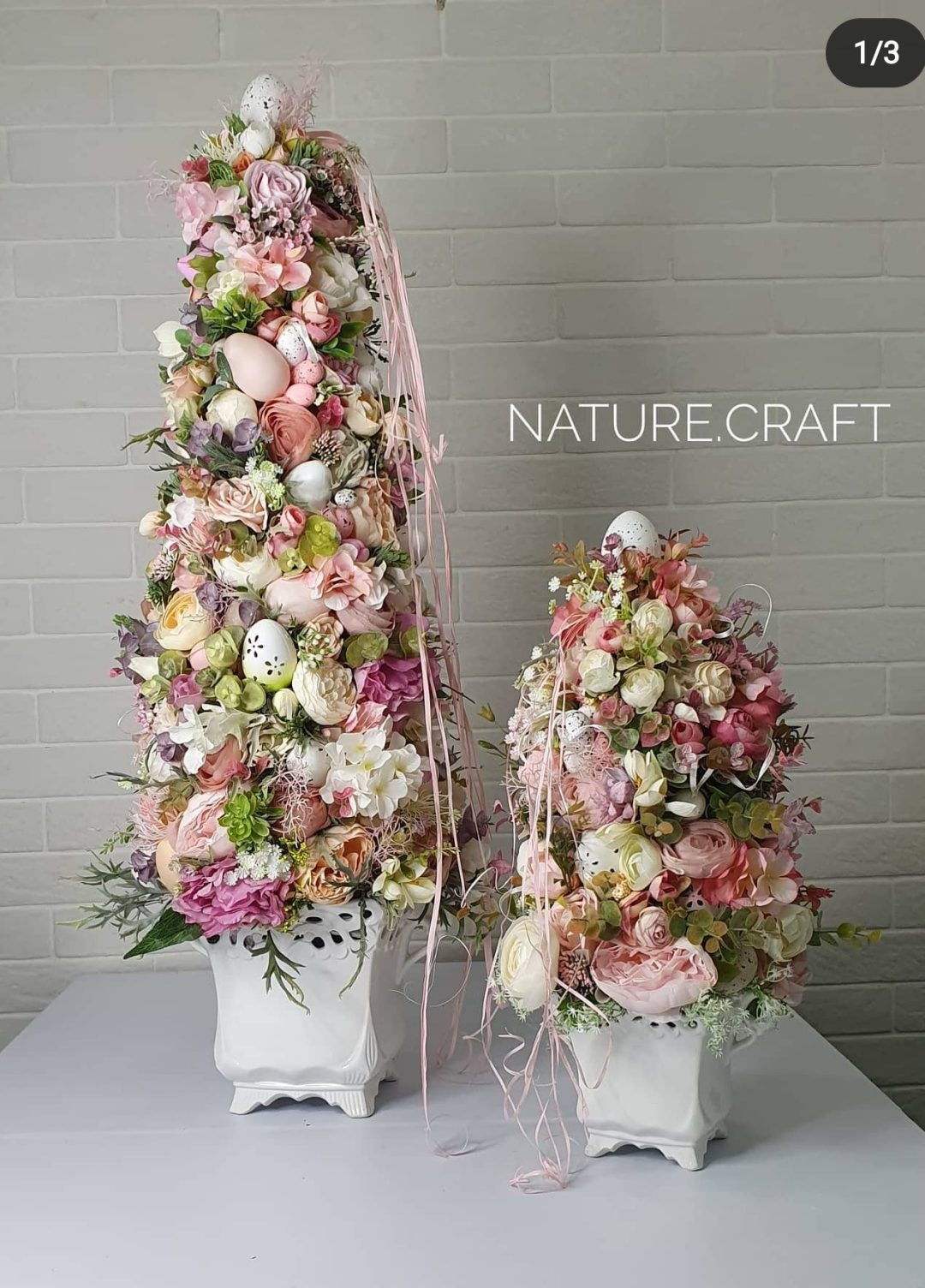 Beautiful Easter tree topiary ideas with flowers