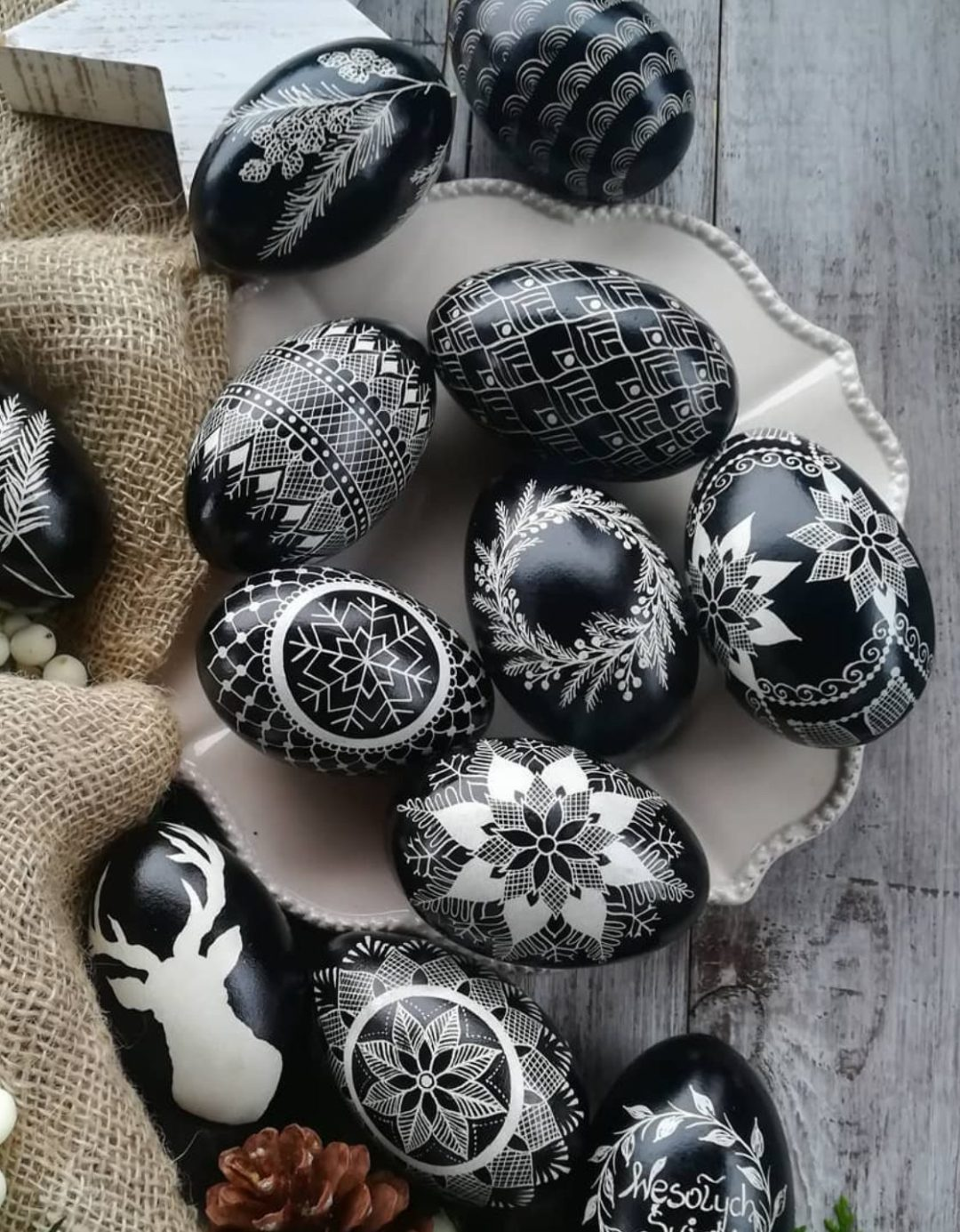 Black Easter egg decorating ideas for adults