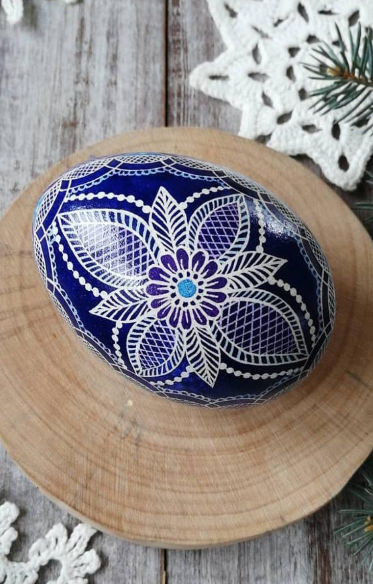 Creative blue Easter egg painting ideas