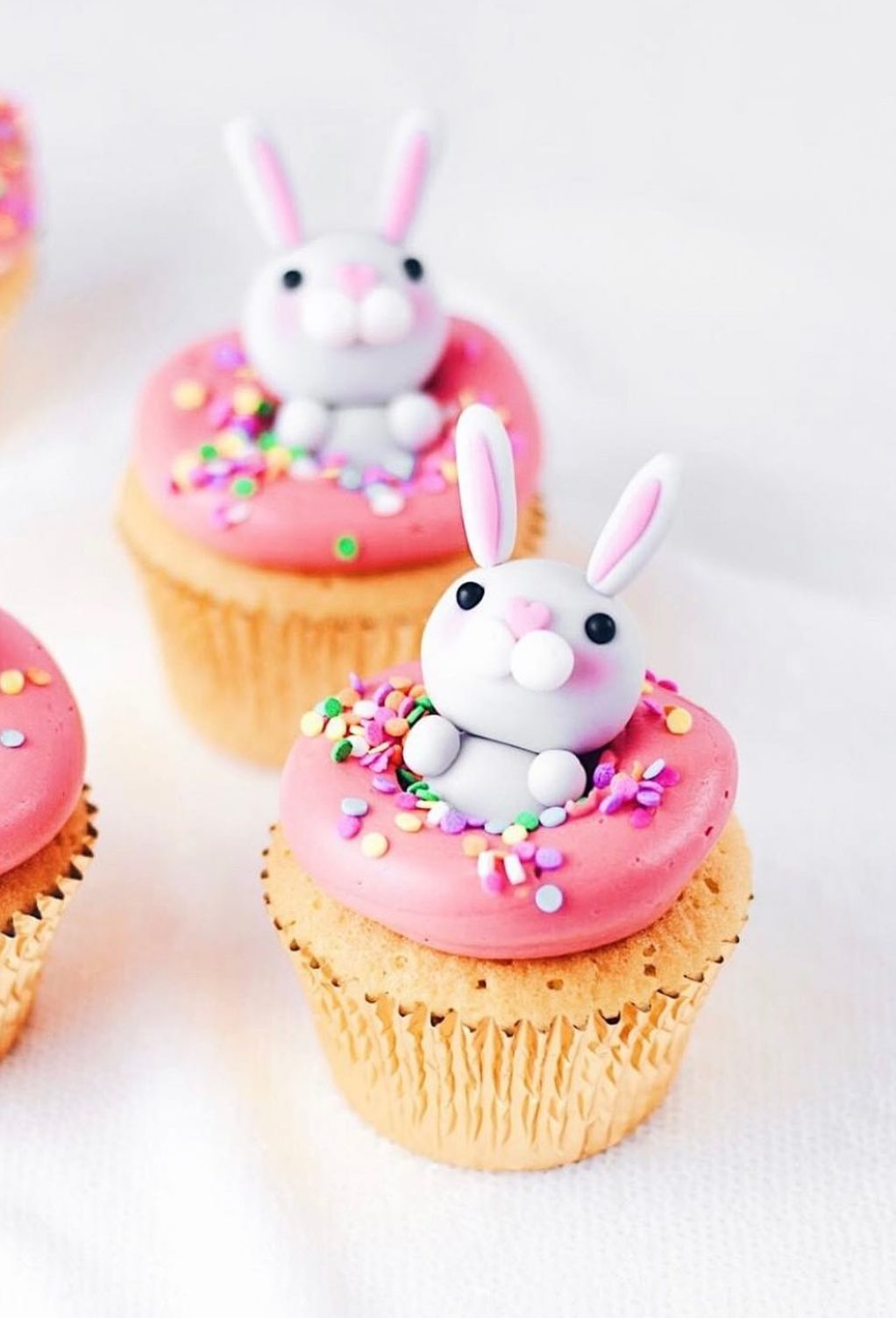 Cute Bunny and Donut Cupcakes