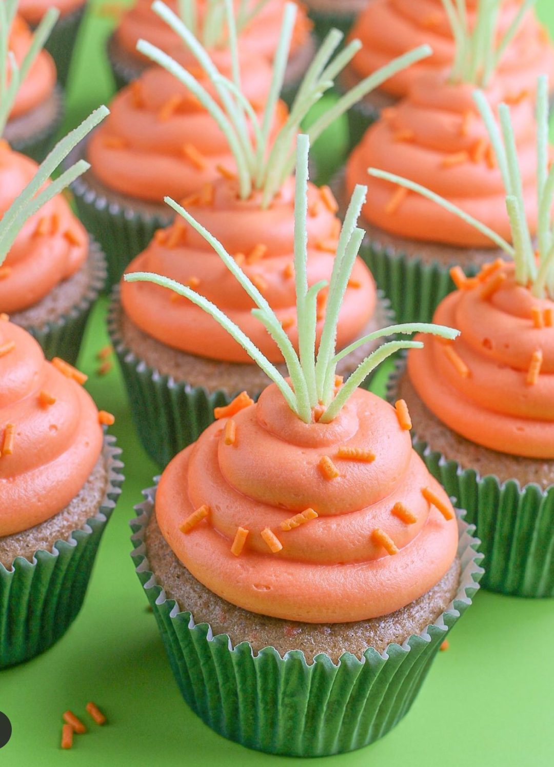 Easy Easter Carrot Cupcakes