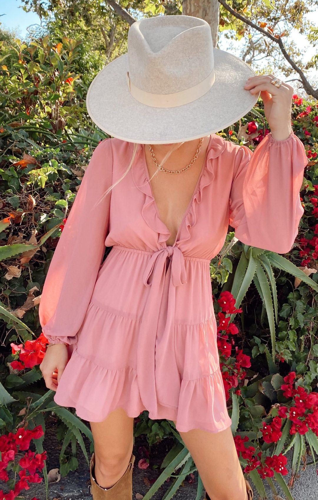 Pink cottagecore fashion