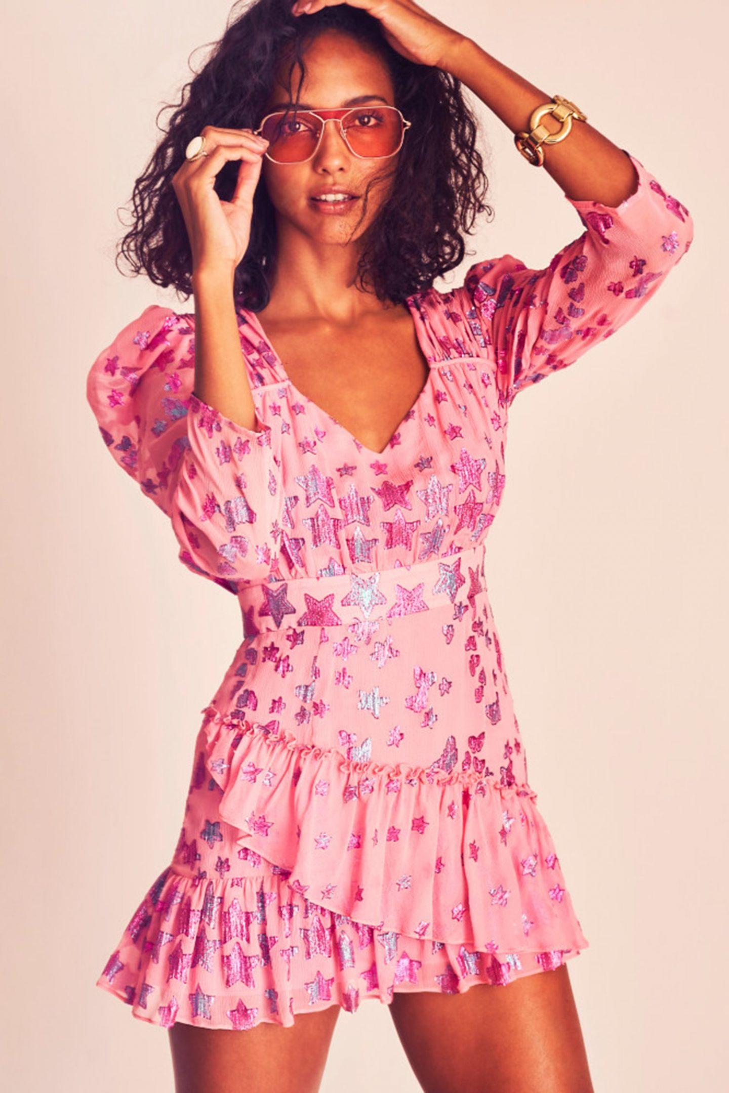 Pink mini cottagecore dresses