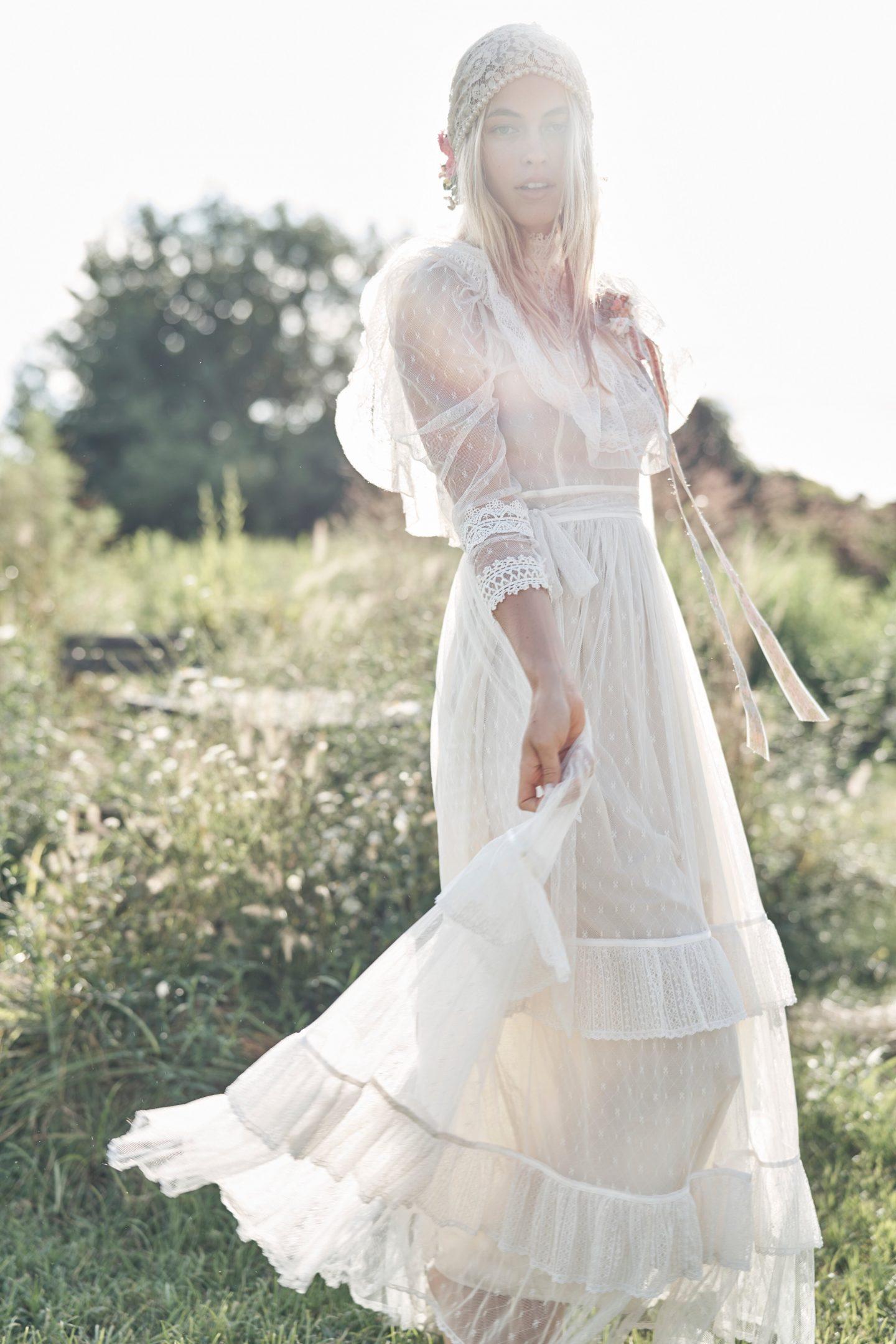 White cottagecore dresses