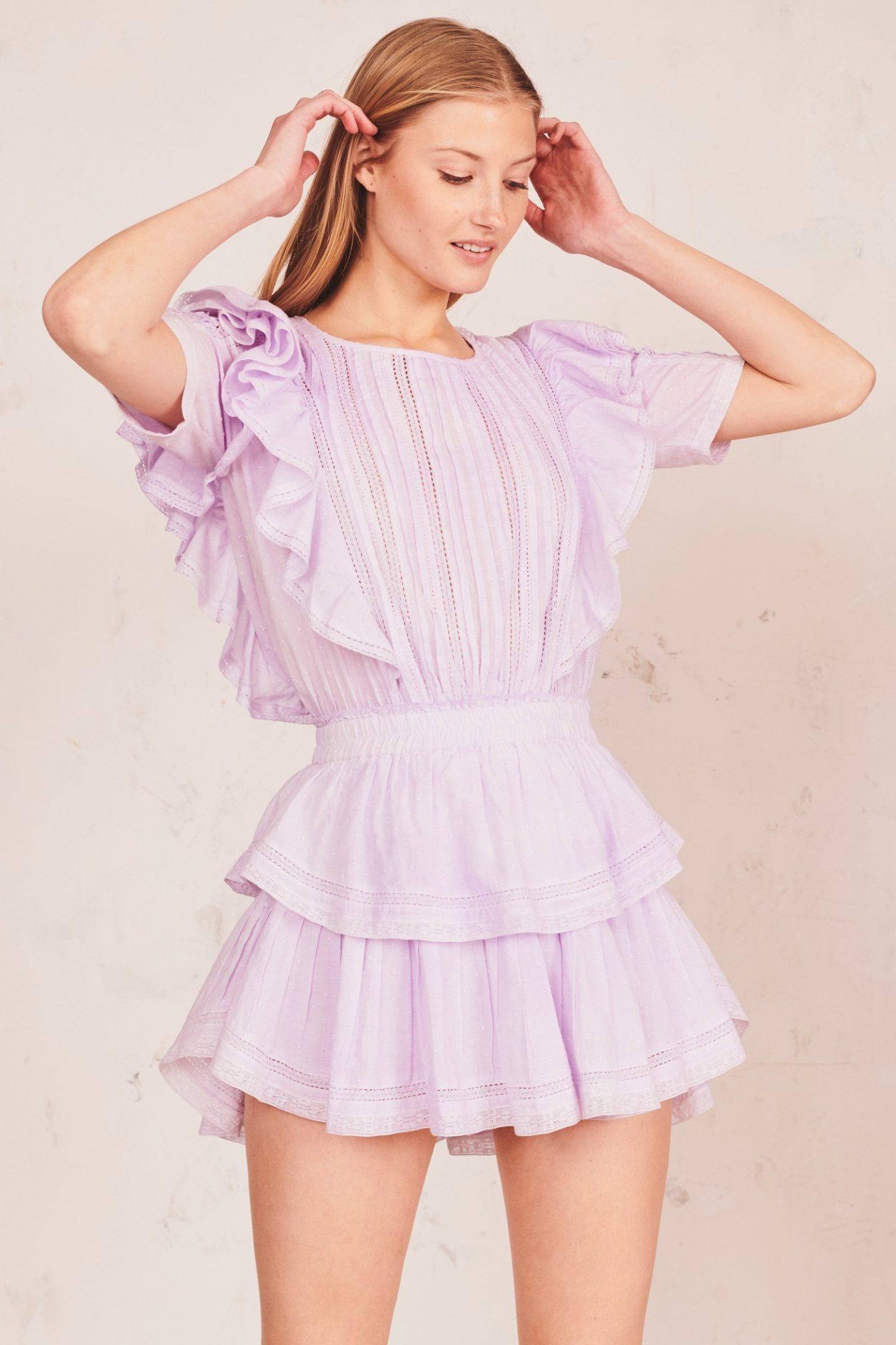 Lilac mini cottagecore dresses