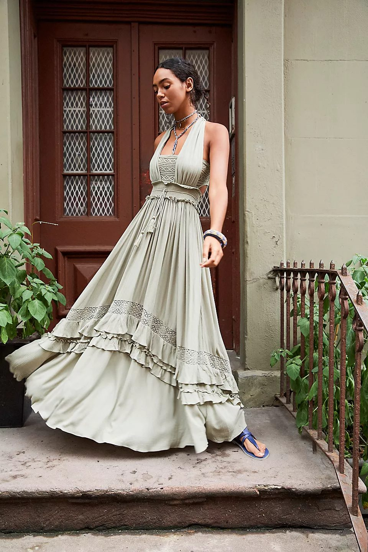 Romantic sage green cottagecore dresses