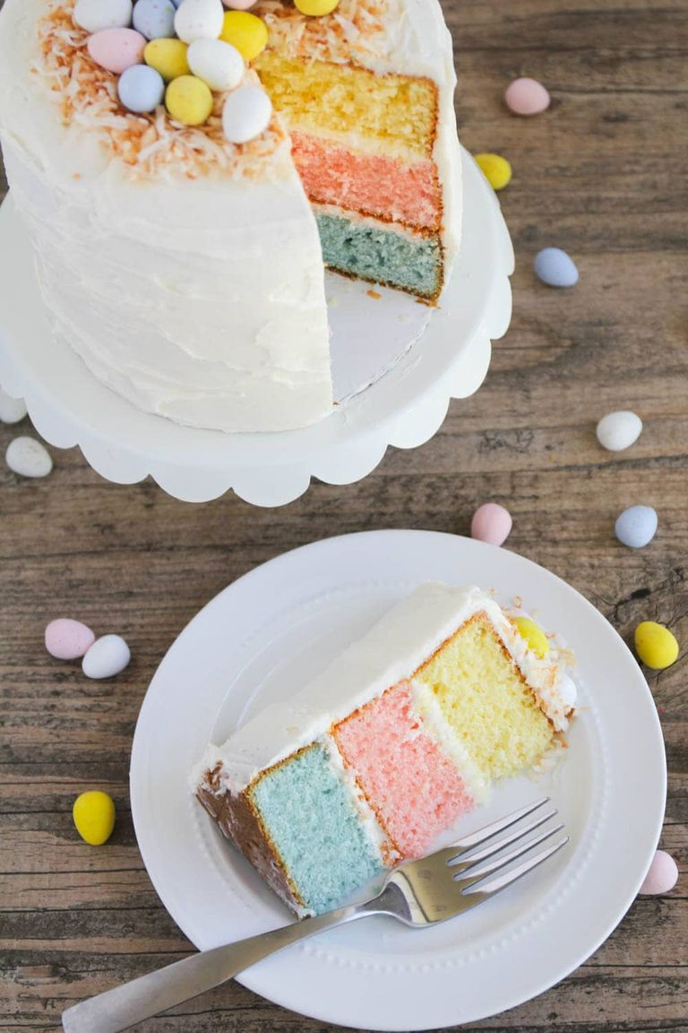 Cute Pastel Easter Egg Layered Cake