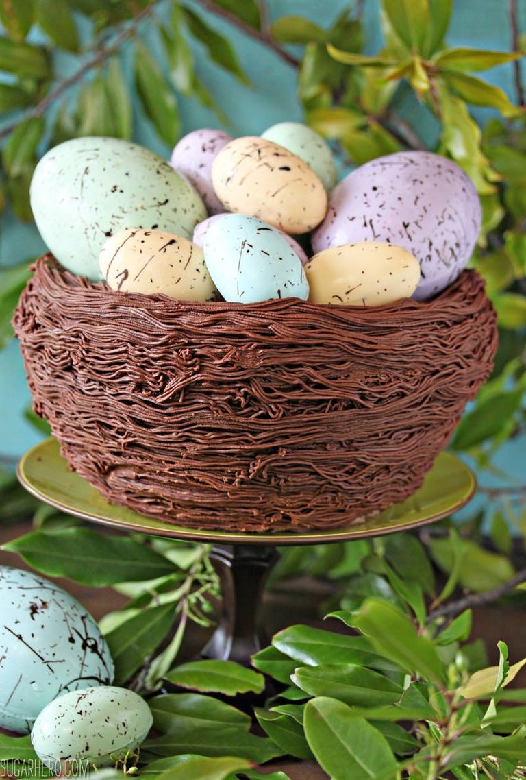 Easter Nest Cake With Eggs