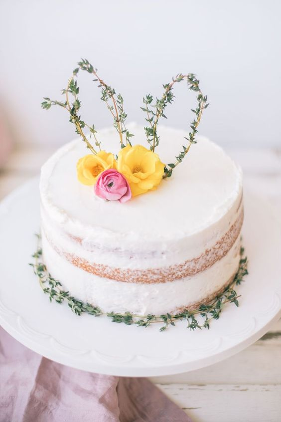 Cute Easter Thyme Cake Topper
