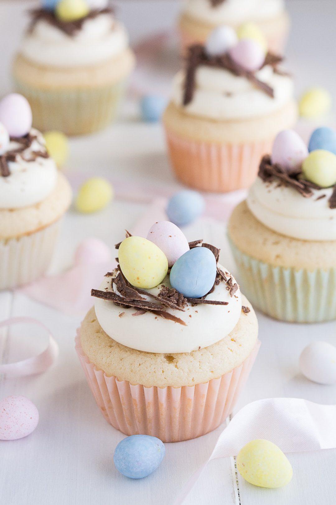White Chocolate Easter Egg Cupcake