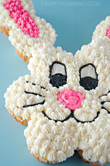 Pull-Apart Easter Bunny Cupcakes
