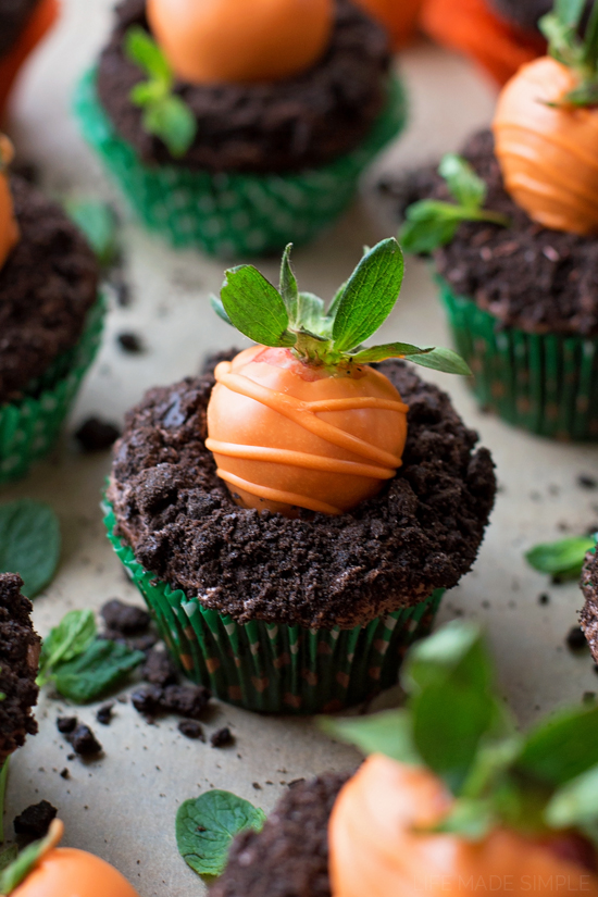 Chocolate Covered Strawberry Carrot Cupcakes
