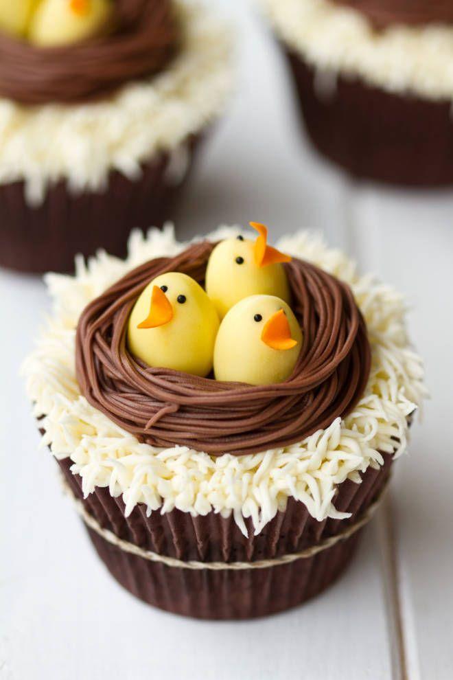 Baby Birds' Nest Cupcakes