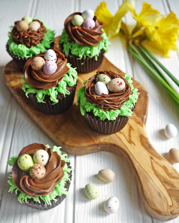 Chocolate Nest Mini Egg Cupcakes