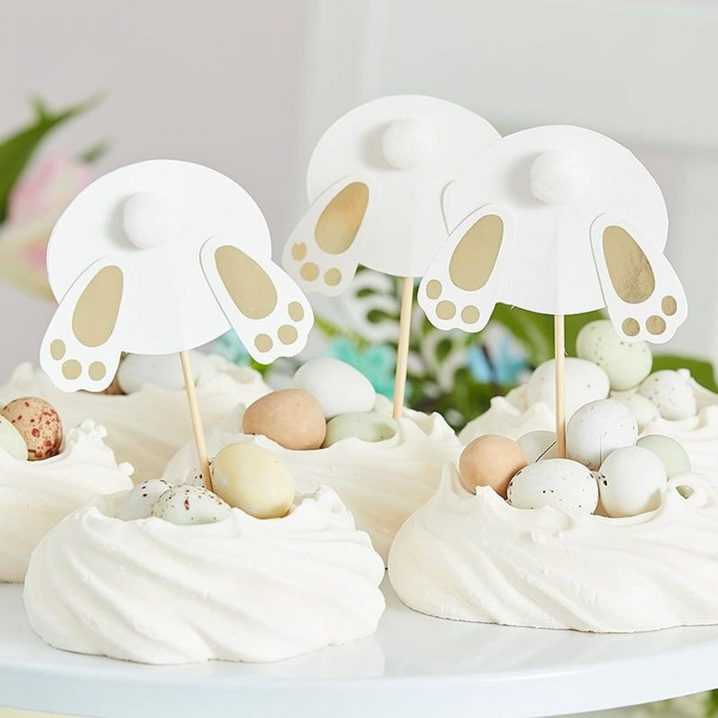 Easter Bunny Butt Cupcake Toppers