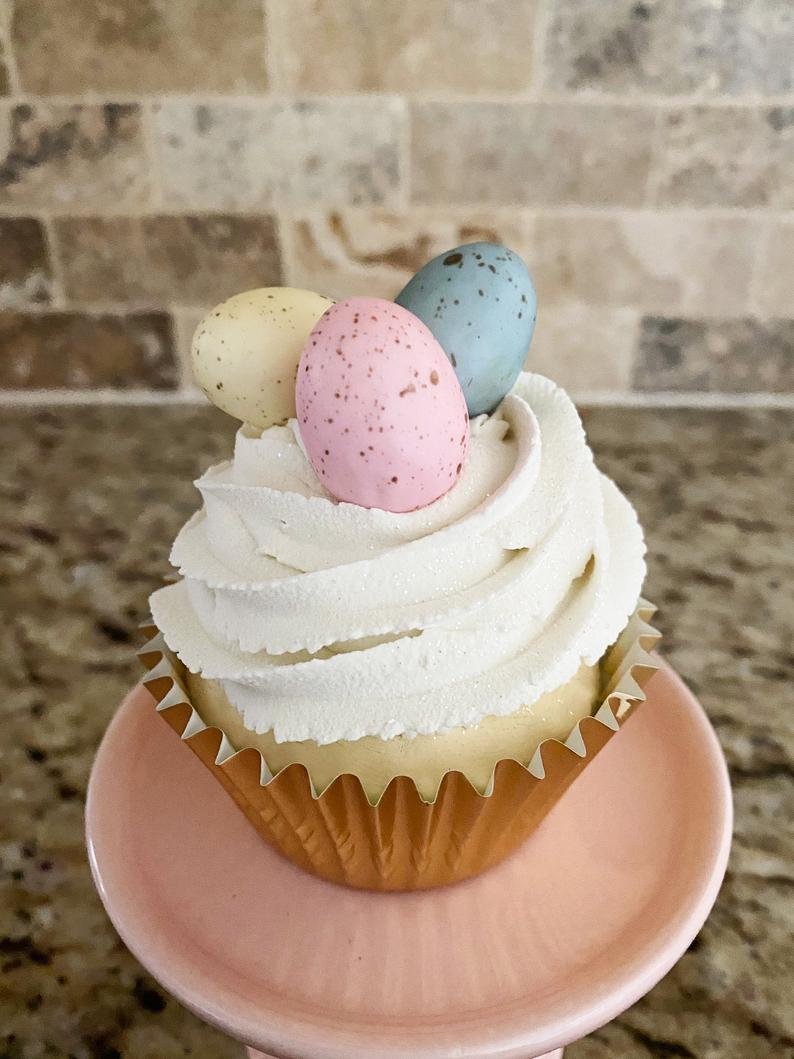 Faux Easter Cupcakes For Home Decor