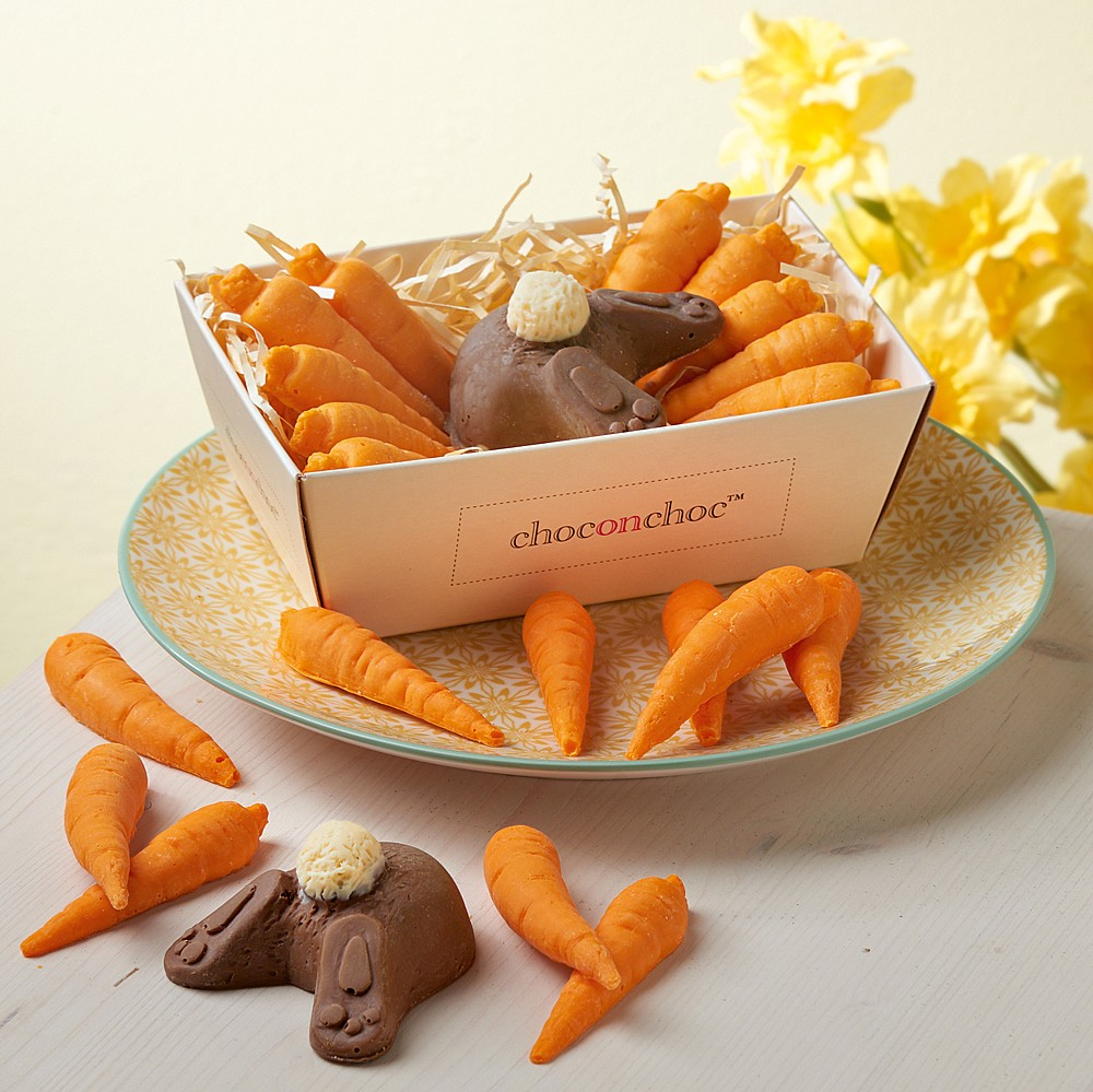 Cute Easter Carrot & Bunny Butt Chocolates