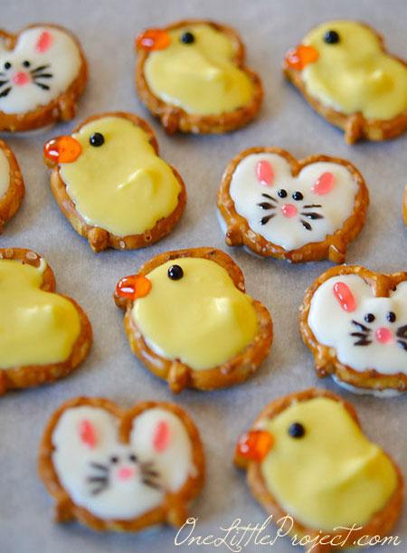 Cute Pretzel Bunnies And Ducks