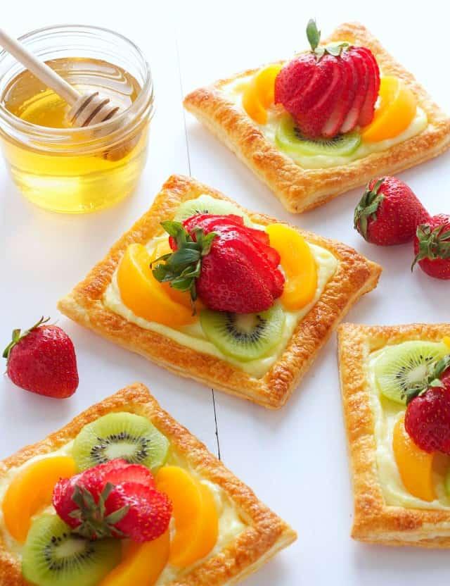 Fruit Tarts with Vanilla Bean Custard Filling